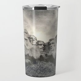 Mount Rushmore - Tintype Photograph Travel Mug