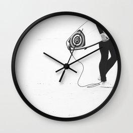 catch a wave V Wall Clock