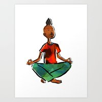 Let's meditate Art Print