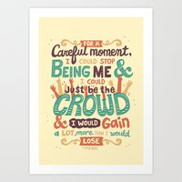 it crowd Art Prints featuring Crowd by Risa Rodil