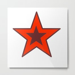 Star In Red And Wine Red Metal Print