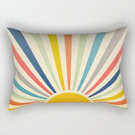 Sun Retro Art III Rectangular Pillow