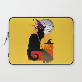Le Chat Noir - Halloween Witch Laptop Sleeve