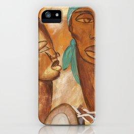 Etnik Drum in love vibes iPhone Case