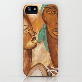 Etnik Drum in love vibes iPhone Case