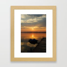 Sunset paddle Framed Art Print