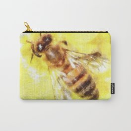 The Pollen Collector Honeybee Watercolor Carry-All Pouch