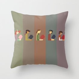 Lumber Ladies Read Throw Pillow