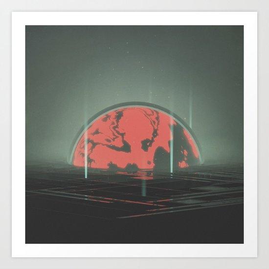 hazy maze Art Print