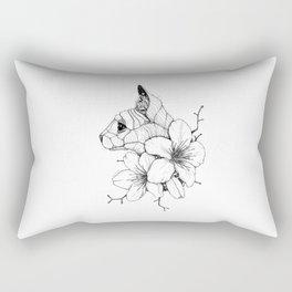 Sphynx cat & Sakura Blossoms Rectangular Pillow