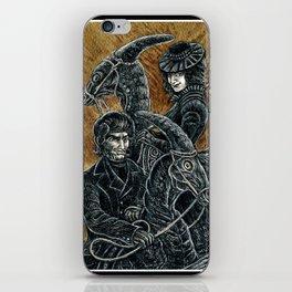 """Victorians Riding Dinosaurs - Parasaurolophus"" iPhone Skin"