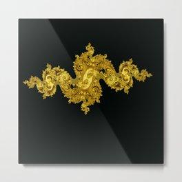 golden dragon on black Metal Print