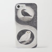 yin yang iPhone & iPod Cases featuring  Yin & Yang  by Owl Art Suri