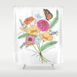 Flowers of California Shower Curtain