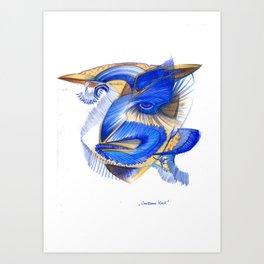 Gerissener Kauz Art Print