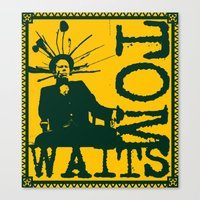 tom waits Canvas Prints featuring Tom Waits by Silvio Ledbetter