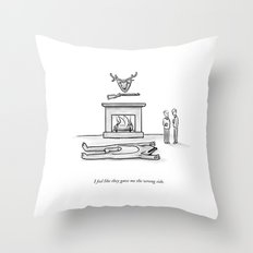 The Wrong Side Throw Pillow