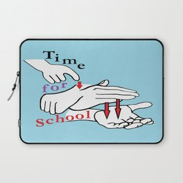 ASL Time for School Laptop Sleeve