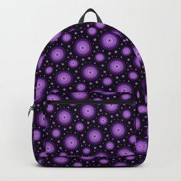 Glowig dark pink mandala Backpack