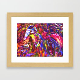 Fluid Painting  Framed Art Print