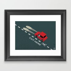 Livin' on the edge Framed Art Print