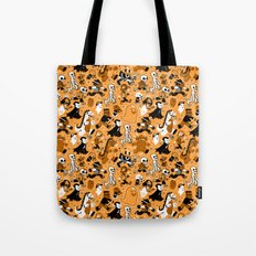 Monster March (Orange) Tote Bag