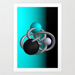 trapped -2of3- turquoise Kunstdrucke