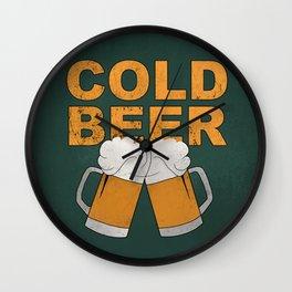 Cold beer Wall Clock