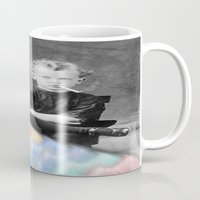 lsd Mugs featuring LSD Chicken by Whiteashes