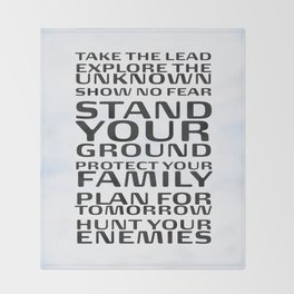 Stand your ground by Brian Vegas Throw Blanket