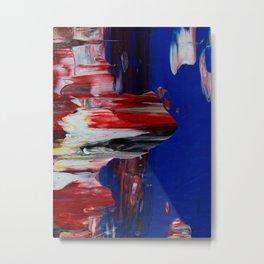 Blue Pillars on Red - Detail #2 Metal Print