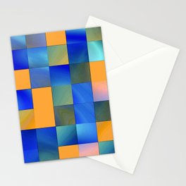 square pattern colorvariation -2- Stationery Cards