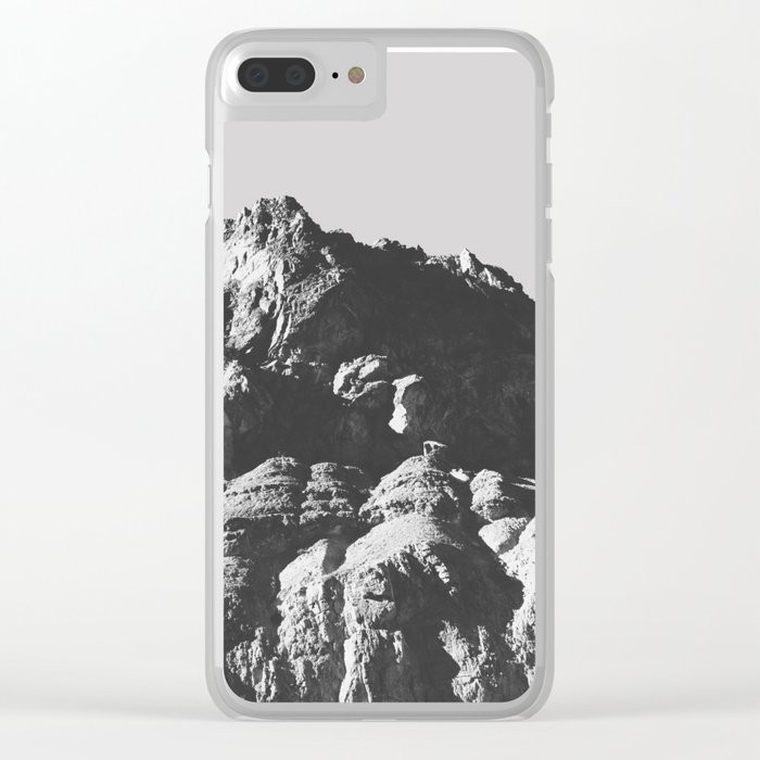 Black & White Mountains Clear iPhone Case