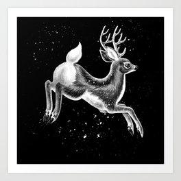 Running Deer Art Print