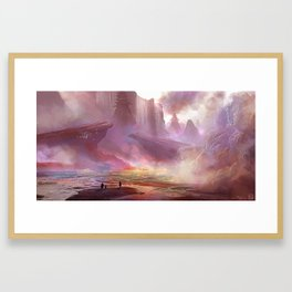 The Shores Of Tooth Framed Art Print