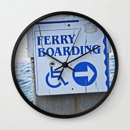 Ferry Boarding in Savannah Wall Clock