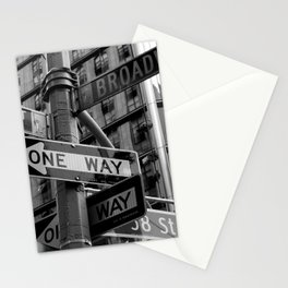 Street sign in New York City, black and white Stationery Cards