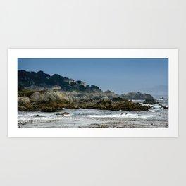 Sunset Point, Pebble Beach, California Art Print
