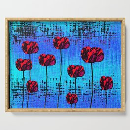 Street Art Pop Poppies Serving Tray
