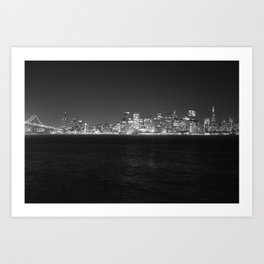 SF at as night seen from Treasure Island Art Print