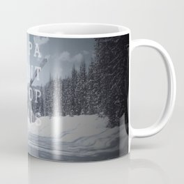 Be patient. Be optimistic. A PSA for stressed creatives. Coffee Mug