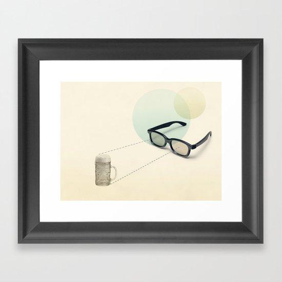 beer goggles Framed Art Print