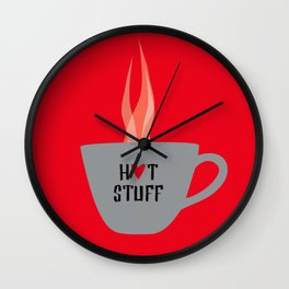Red Hot Stuff Wall Clock