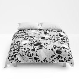 Real Terrazzo Stone Marble Concrete Mix Pattern Comforters