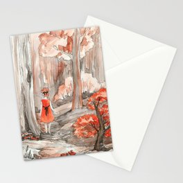 Deep in the fall forest Stationery Cards
