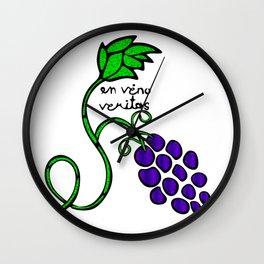 In Vino Veritas Wall Clock