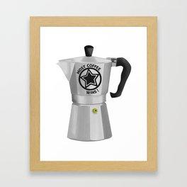Most Coffee Wins Framed Art Print