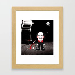 Lil Horror Classics Featuring Billy The Puppet from Saw Framed Art Print