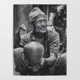 The Locals of Kathmandu City 001 Poster