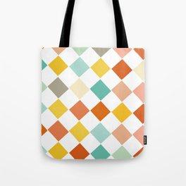 Color Check Tote Bag